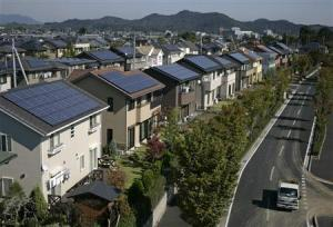 Solar panels are compulsory for new homes to be built in Japan